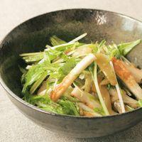 ごま油香る 水菜とザーサイの簡単和え