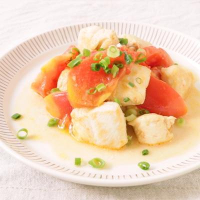 しっとり柔らか 鶏ささみとトマトのマヨ炒め