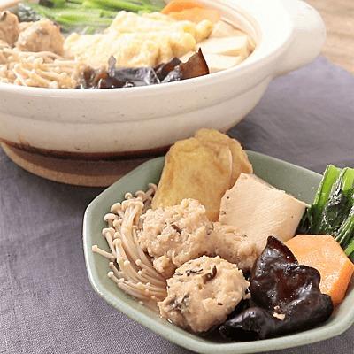 生姜たっぷり鶏団子のちゃんこ鍋