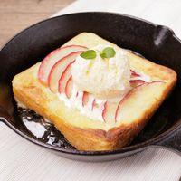 トースターでりんごのフレンチオープンサンド