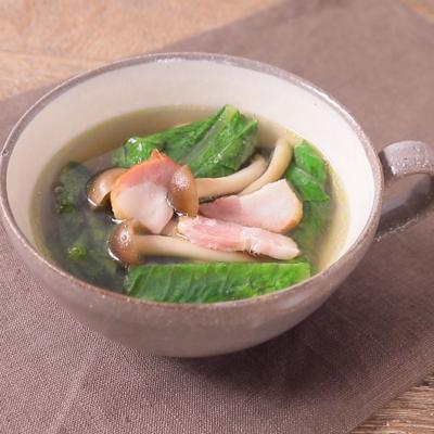 ロメインレタスのスープ