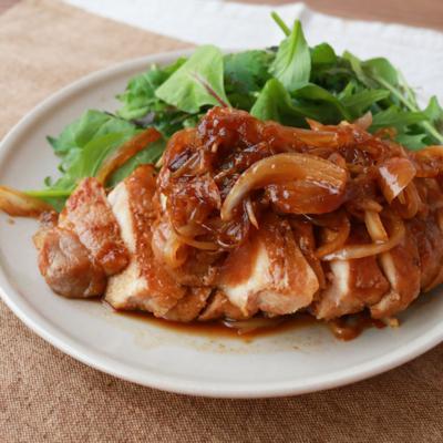 豚肩ロースで スタミナ生姜焼き