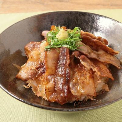 わさびでおいしい 旨味たっぷり焼き豚丼