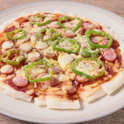 カリカリもちもち 切り餅ピザ