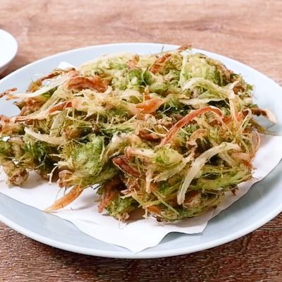 にんじんの葉の天ぷら