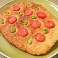 HMで簡単 トマトと枝豆のフォカッチャ風パン