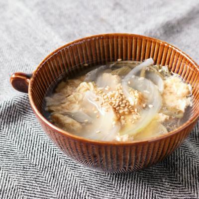 じゅんさいとたまごの中華風スープ