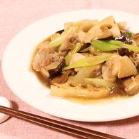 干し椎茸と鶏の甘辛あん炒め