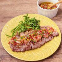 牛サーロイン肉のヴィナグレッチ風ソース