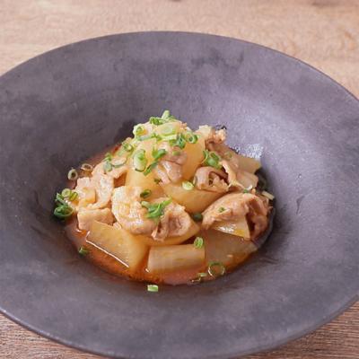 豚バラ肉と大根の韓国風煮