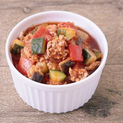 野菜たっぷり ラタトゥイユ風ミートソース