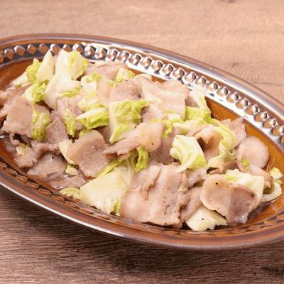 春キャベツと豚バラ肉のレモン炒め