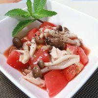 トマトとささみのピリ辛マリネ