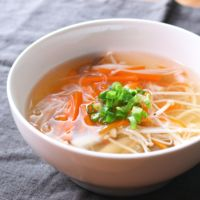春雨きのこスープ