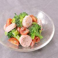 魚肉ソーセージとブロッコリーのマスタードサラダ