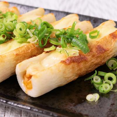 ちくわとツナキムチのチーズ焼き