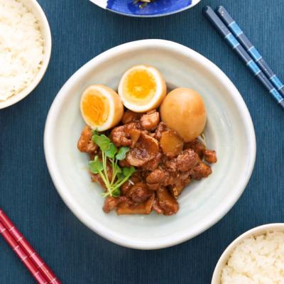 さっぱり 鶏もも肉と卵の甘酢煮