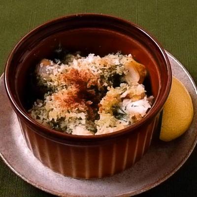 バイ貝の大葉バター焼き