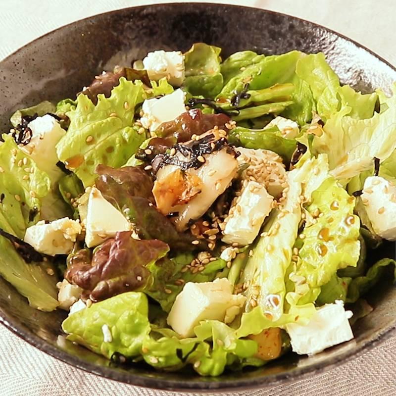 いち りき サラダ キムチ