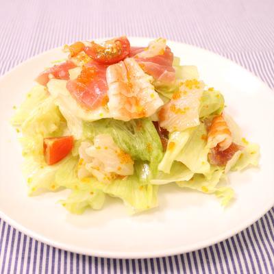 プチプチキラキラ海鮮サラダ