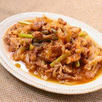 レンチンで豚バラ肉の甘辛韓国風