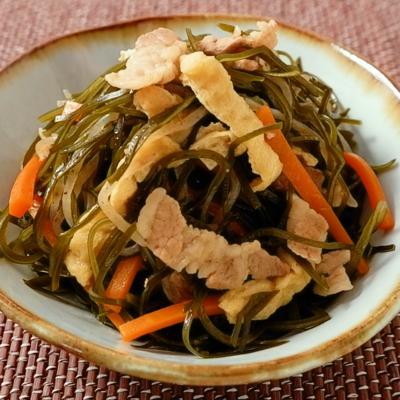 沖縄の郷土料理 クーブイリチー