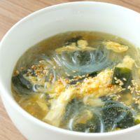 卵とわかめの春雨スープ