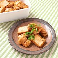 ポン酢でさっぱり 鶏もも肉と厚揚げの常備菜