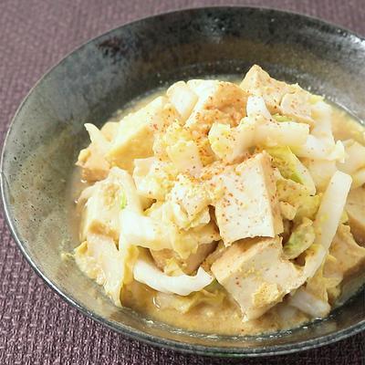 レンジで時短 白菜と厚揚げの卵とじ丼