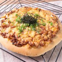 発酵いらず 納豆キムチピザ