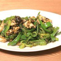 ピーマンと鶏ささみの海苔の佃煮炒め