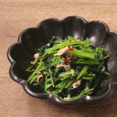 みぶ菜とツナの和え物