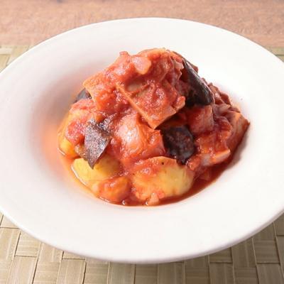 高野豆腐とごろごろ野菜のトマト煮