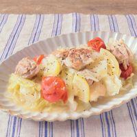 鶏もも肉とキャベツのレモンバター煮