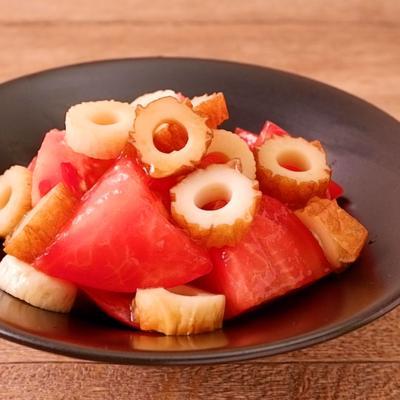 5分で作れる ちくわとトマトのしょうゆ和え