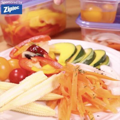 彩り野菜と白身魚のマリネ