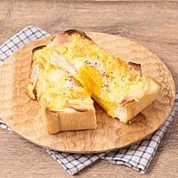 簡単 とろとろ半熟卵のカルボナーラ風トースト
