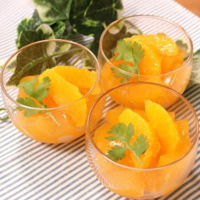 暑い日には!つるんとオレンジゼリー