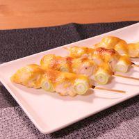 味噌とマヨネーズで鶏のささみねぎま串