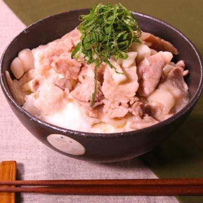 ご飯モリモリ!長芋のとろーり塩豚丼