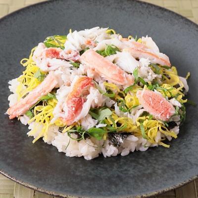 カニ酢で作る カニのちらし寿司