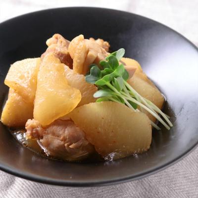 ホクホク大根と鶏肉のピリ辛煮物