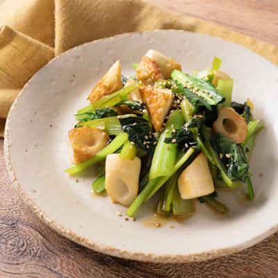 ちくわと小松菜のさっぱりポン酢炒め