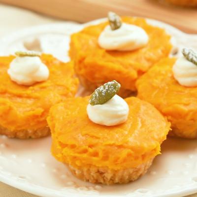 焼かずに簡単 かぼちゃのプチタルト