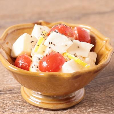 モッツァレラとトマトの塩麹レモンマリネ