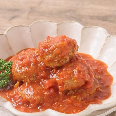 もやし肉団子のトマト煮込み