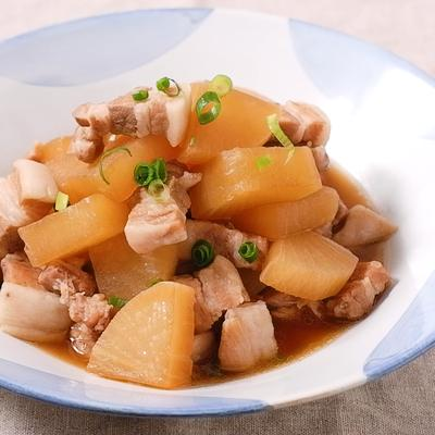 フライパンで簡単 豚バラ大根