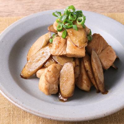 鶏ささみとごぼうの甘辛炒め