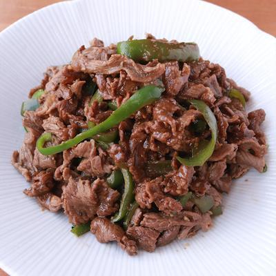 牛肉とピーマンのガリポン炒め