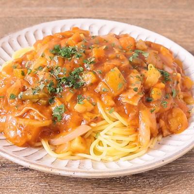 ミネストローネのあんかけスパゲティ